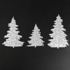 Taglio in metallo Die - 3 Alberi di Natale-Stencil Modello-embossing-artigianale