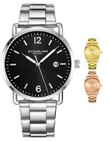 Stuhrling Men's 3902 Classic Watch Minimalistic  Design Stainless Steel  Band