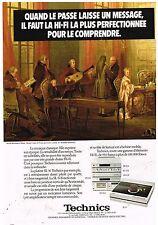 Publicité Advertising 1981 La Chaine Hi-Fi et platine Technics