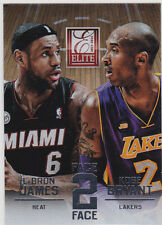 LEBRON JAMES & KOBE BRYANT Face 2 Face RARE $$ INSERT Basketball Card LAKER HEAT