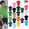 Fruit of The Loom Premium Polo shirt - Smart/Casual Cotton 3 button top S-3XL