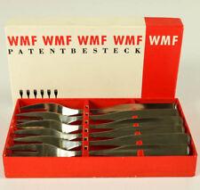 6 Kuchen Gabeln WMF 3600 Silber 90er Wilhelm Wagenfeld in Box 50er Jahre