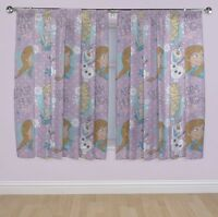 Disney Frozen Princess 'Crystal'  66 X 54 Inch Drop Curtain Pair Brand New Gift