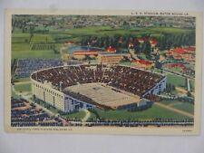 c1943 Linen Postcard LA State University LSU Stadium Baton Rouge LA USA Unposted