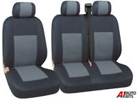 GREY BLACK FABRIC SEAT COVERS 2+1 FOR IVECO DAILY NEW