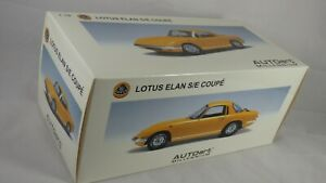 Vintage Autoart 1:18 Toy Model Car Lotus Elan S/E Coupe Rare Yellow S3 1962 Box