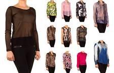 Hüftlang Damenblusen,-Tops & -Shirts im Blusen-Stil mit V-Ausschnitt und Polyester