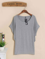 Womens Ladies Loose Long Sleeve Shirt Blouse Baggy Tops Batwing New Stylish