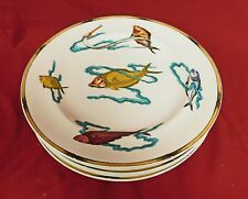 7 Royal Worcester Polychrome Plates ~ Rare Fish 1870