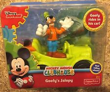Disney Mickey Mouse Goofy's Jalopy & Figure Pack Free Ship New Fisher Price