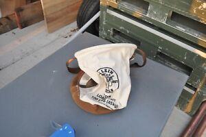 100lb Klein Tools Tool Storage Bucket Bag 5104 Canvas, Leather Base