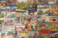 Lot of 52 Linen Comic Humor ~Funny Vintage Cartoon Postcards-c325