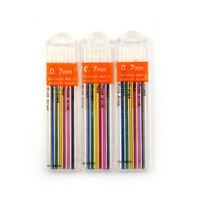 3Boxes 0.7mm Colored Mechanical Pencil Refill Lead Erasable School StationarHFFS