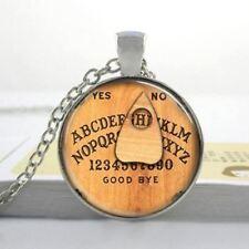 Ouija Board Glass Dome Necklace - 3D Witchy Gothic, Goth Alternative Jewelry