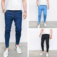 Hommes Conique Jeans Coupe Slim Pantalon de Jogging Décontracté