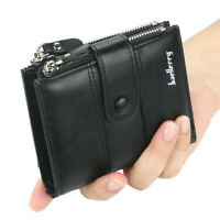 Leather Wallets for Men - RFID Blocking Trifold Wallet with ID Window Card Slots