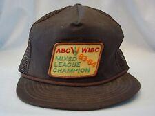 Vintage Trucker Hat Cap Abc Wibc 83-84 Mixed League Champion Euc
