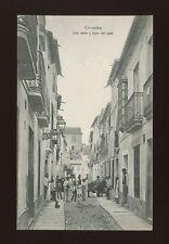 Spain CORDOBA Una calle y tipos del pais c1910/20s? PPC
