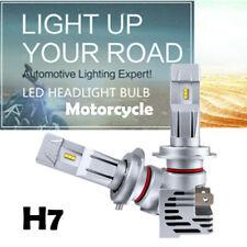 Pair Motorcycle H7 LED Headlight Bulbs 6000K 55W 6000LM ZES LED White Bulbs M3