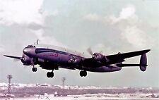 CATAIR LOCKHEED CONSTELLATION departing Malta -  6x4 inch PRINT