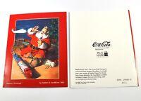 Coca Cola Coke Mappa di morbido notte Biglietti d'auguri Santa m. Giocattolo USA