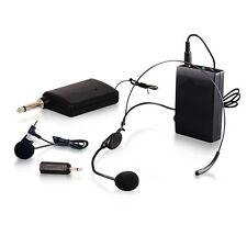 Wireless Stage Clip-on & Headset Microphones MIC Range FM Transmitter LIWM307