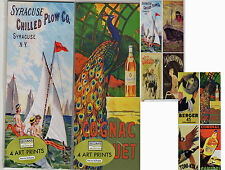 """French Poster Art 4"""" X 10"""" Prints LOT (16) NEW Liquor Chocolates Products Travel"""