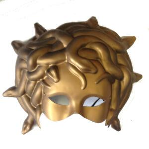 Medusa Mask Half Mask Adult Snakes Hair Masquerade Costume Gift Halloween