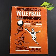 1965 AUSTRALIAN VOLLEYBALL CHAMPIONSHIPS SOUVINER PROGRAM ALBERT PARK MELBOURNE
