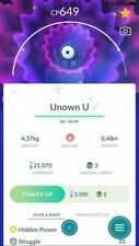 Pokemon Shiny Unown U  - trade 20k stardust or mini account