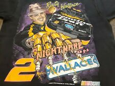 VTG 90s #2 Rusty Wallace Nascar Racing Single Stitch Tee T Shirt Black Large L