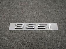 Chrome Number Trunk Rear Letters Word Emblem Badge Sticker for BMW 3 Series 335i