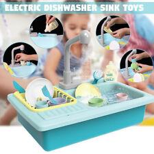 Simulation Dishwasher Sink Pretend Play Kitchen Toys Kids Puzzle Sets Kitchen