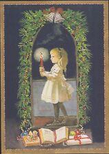 Tasha Tudor Amer Artist Group Caspari NEW Christmas Card MINT Condition Girl