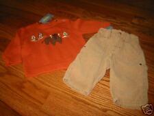 GB324/5 NWT 6-12 mo Gymboree Winter Ranch Buffalo Sweater Corduroy Pants Set
