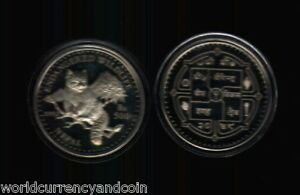 NEPAL 500 RUPEES BS2048 ENDANGERED WILD LIFE BEAR PROOF SILVER UNC MONEY COIN