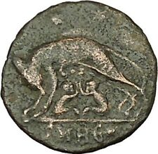 "Constantine I The Great Ancient Roman Coin Romulus & Remus ""Mother"" wolf i40085"