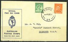 AUSTRALIA 1937 K. GEORGE VI OFFICIAL FDC