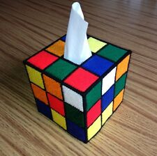 rubik's cube tissue box cover #3,fathers Day,gift,Graduation,big Bang Theory,