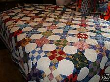 Snowball and Nine-Patch Quilt, Queen, Multi-color