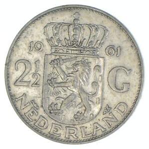 1961 Netherlands 2 1/2 Gulden - TC *827