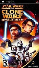Star Wars: The Clone Wars -- Republic Heroes (Sony PSP, 2009) - UMD DISC ONLY