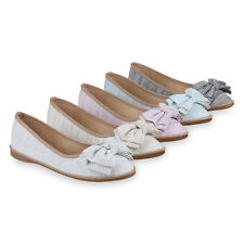 Damen Slippers Glitzer Slip Ons Ballerinas Schlupfschuhe Flats 821847 Schuhe