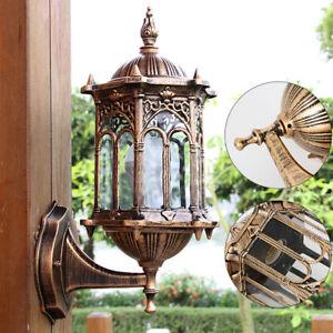 Exterior Outdoor Wall Lantern Lighting Garden Wall Lamp Porch Patio Sconce Light