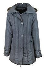 Women's Outdoor Polyester Button Hip Length Coats & Jackets
