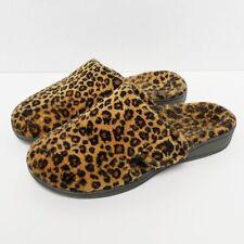 Vionic Womens Gemma Leopard Print Mule Slippers Size 6