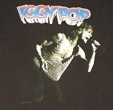 Vintage Iggy Pop 80s Concert T Shirt Black Raw F*king Power Punk The Stooges