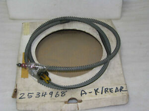Mopar NOS 1967-70 Valiant Barracuda Dart Right Rear Parking Brake Cable 2534968