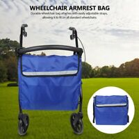 Blue Wheel Chair Storage Tote Accessories Hanging Oxford Lightweight Wheelchair