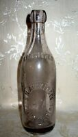 Antique S H Zucker & Co. A. Z. Glass Blob Top Beer Bottle Late 1800's